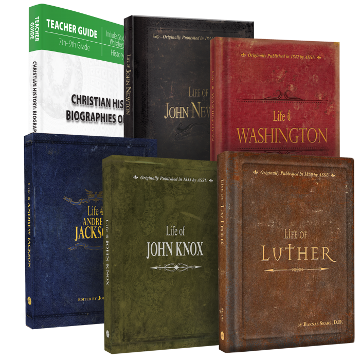 Christian History: Biographies of Faith (Curriculum Pack)