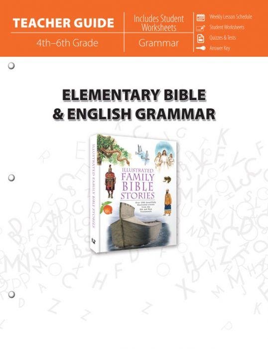 Elementary Bible & English Grammar (Teacher Guide - Download)