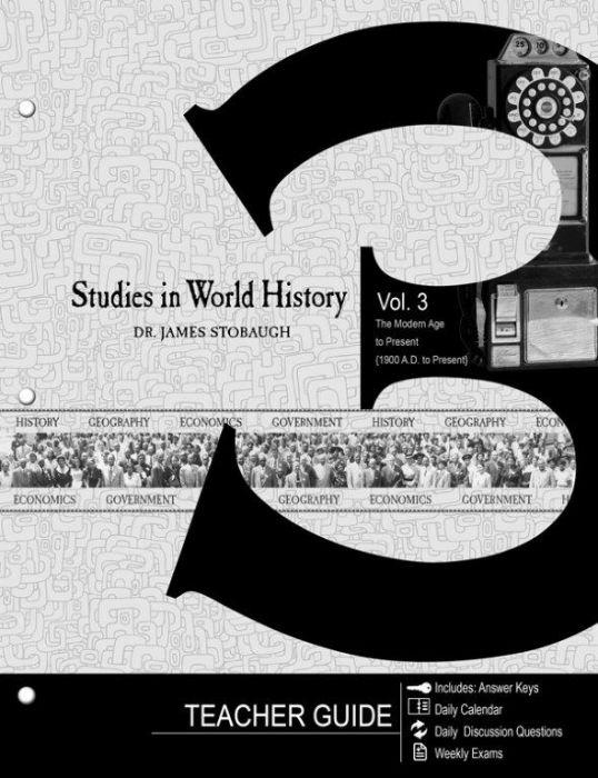 Studies in World History Vol. 3 (Teacher Guide - Download)